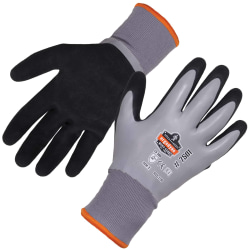 Ergodyne ProFlex 7501 Coated Waterproof Winter Work Gloves, Medium, Gray