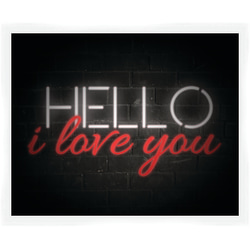 """PTM Images Matted Framed Wall Art, Hello, 18""""H x 22""""W"""