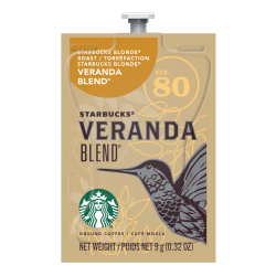 Starbucks® Coffee Veranda Blend Single-Serve Packets, 0.32 Oz, Carton Of 80