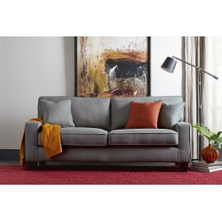 "Serta® Deep-Seating Palisades Sofa, 78"", Gray/Espresso"