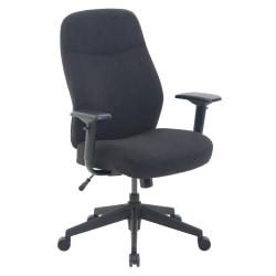 Serta® Commercial Motif Fabric Mid-Back Desk Chair, Black