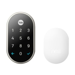 Nest x Yale Satin Nickel Lock With Nest Connect