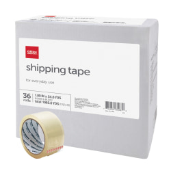 """Office Depot Brand® Brand Multipurpose Shipping Tape, 1-7/8"""" x 54.6 Yd., Clear, Box Of 36 Rolls"""