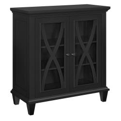 Ameriwood™ Home Ellington Double-Door Accent Cabinet, 3 Shelves, Black