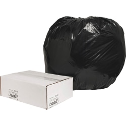 """naturesaver® 1.25-mil Can Liners, 56 Gallons, 43"""" x 48"""", 75% Recycled, Black, Box Of 100"""