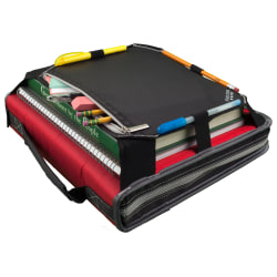"Five Star® Zipper 3-Ring Binder With Expansion Panel, 2"" Round Rings, Assorted Colors"