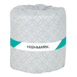 Highmark® 2-Ply Toilet Paper, 100% Recycled, 336 Sheets Per Roll, Pack Of 48 Rolls