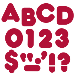 """TREND Ready Letters®, Casual, 4"""", Maroon, Pre-K - Grade 12, Pack Of 72"""