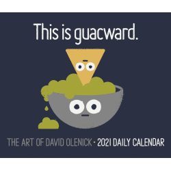 "Willow Creek Press Page-A-Day Daily Desk Calendar, 4-1/4"" x 5-1/4"", FSC® Certified, David Olenick Art, January to December 2021, 15124"