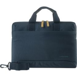 "Tucano Milano Italy Smilza super slim bag/sleeve with strap for notebook 15.6"" - Blue - Shock Resistant Interior - Neoprene Corner, Polyester - Handle, Shoulder Strap - 11.4"" Height x 16.5"" Width x 1.6"" Depth"