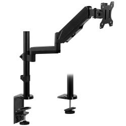 "Mount-It! MI-4761 Single Monitor Arm Desk Mount, 16""H x 6""W x 4.8""D, Black"