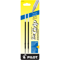 Pilot® Ballpoint Pen Refills, Fits Dr. Grip & All Pilot® Retractable Ballpoint Pens, Fine Point, 0.7 mm, Blue