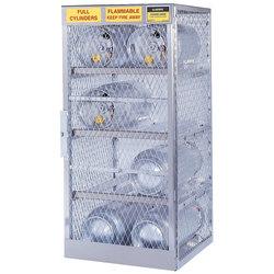 Justrite Horizontal Cylinder Storage Locker, 8 Cylinders