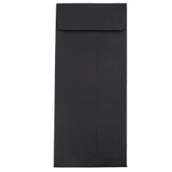 """JAM Paper® Open-End Policy Envelopes, #14, 5"""" x 11 1/2"""", Black, Pack Of 25"""