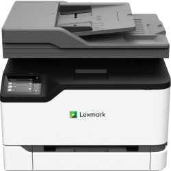 Lexmark MC3326i Wireless Laser Multifunction Printer - Color - Copier/Printer/Scanner - 26 ppm Mono/26 ppm Color Print - 600 x 600 dpi Print - Automatic Duplex Print - Upto 50000 Pages Monthly - 251 sheets Input - Color Flatbed Scanner