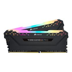 CORSAIR Vengeance RGB PRO - DDR4 - kit - 16 GB: 2 x 8 GB - DIMM 288-pin - 3200 MHz / PC4-25600 - CL16 - 1.35 V - unbuffered - non-ECC - black