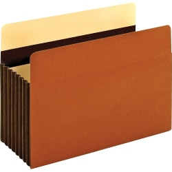 "Pendaflex Legal Recycled Expanding File - 8 1/2"" x 14"" - 1600 Sheet Capacity - 7"" Expansion - Redrope - Brown - 10% - 5 / Box"