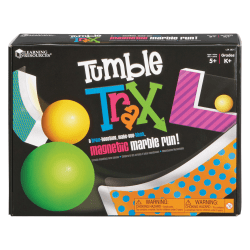 Learning Resources Tumble Trax Magnetic Marble Run - Theme/Subject: Learning - Skill Learning: Engineering, Problem Solving - 5+ - 1 Set