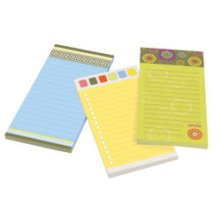 "Post it® Super Sticky Fun Design Notes With Magnet, 4"" x 8"", Assorted Colors, Pack Of 3 Pads"
