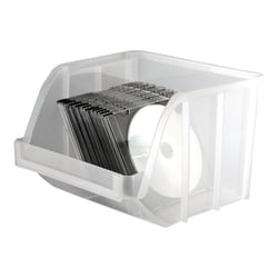 """Office Depot® Brand """"Mini"""" Stacking Bin, Extra Large, 9"""" x 8 3/4"""" x 6"""", Clear"""