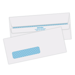 "Quality Park® Redi-Seal™ Security Window Envelopes, #10 (4 1/8"" x 9 1/2""), White, Box Of 500"