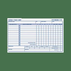 "Rediform® Weekly Time Clock Card Pad, 4.25"" x 7"", Manila, Pad Of 100"