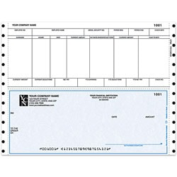 """Custom Continuous Payroll Checks For One Write Plus®, 9 1/2"""" x 7"""", 2 Parts, Box Of 250"""