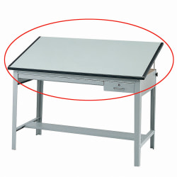 """Safco® Precision Drafting Table Top, 60""""W, Green"""