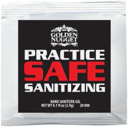 Custom Sanitizer Gel Packets, 0.1 Oz