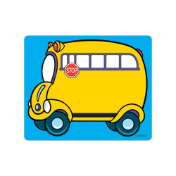 """TREND Name Tags, 3"""" x 2 1/2"""", School Bus, 36 Tags Per Pack, Set Of 6 Packs"""