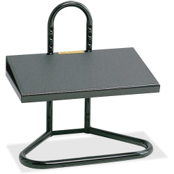 "Safco® Ergonomic Industrial Footrest, 5 1/2""-15""H x 20""W x 12""D, Black"