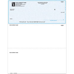 """Custom Laser Multipurpose Voucher Checks, Without Lines For Quicken® / Quickbooks® / Microsoft®, 8 1/2"""" x 11"""", 2 Parts, Box Of 250"""