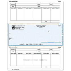 "Custom Laser Accounts Payable Checks For One Write Plus®, 8 1/2"" x 11"", 1 Part, Box Of 250"