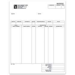 "Custom Laser Invoice For RealWorld®, 8 1/2"" x 11"", 1 Part, Box Of 250"