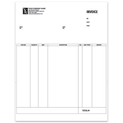 """Custom Laser Invoice For Simply Accounting®, 8 1/2"""" x 11"""", 1 Part, Box Of 250"""
