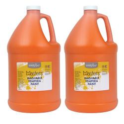 Little Masters™ Washable Tempera Paint, 128 Oz, Orange, Pack Of 2