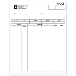 "Custom Laser Invoice For Sage Peachtree®, 8 1/2"" x 11"", 1 Part, Box Of 250"