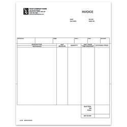 """Custom Laser Service Invoice For DACEASY®, 8 1/2"""" x 11"""", 1 Part, Box Of 250"""