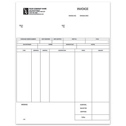 """Custom Laser Inventory Invoice For One Write Plus®, 8 1/2"""" x 11"""", 1 Part, Box Of 250"""
