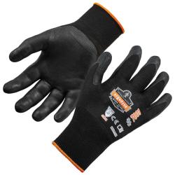Ergodyne ProFlex 7001 Nitrile-Coated Nylon Gloves, Large, Black