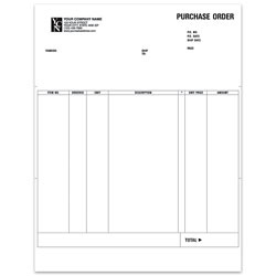 """Custom Laser Purchase Order For Simply Accounting®, 8 1/2"""" x 11"""", 1 Part, Box Of 250"""
