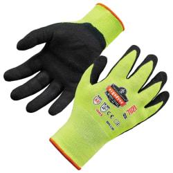 Ergodyne ProFlex 7021 Polyester Hi-Vis Nitrile-Coated Gloves, Medium, Lime