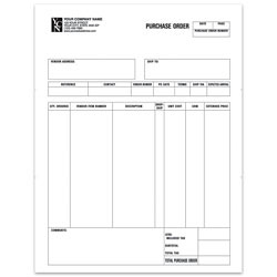 """Custom Laser Purchase Order For ACCPAC®, 8 1/2"""" x 11"""", 1 Part, Box Of 250"""