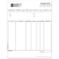 "Custom Laser Purchase Order For Great Plains®, 8 1/2"" x 11"", 1 Part, Box Of 250"