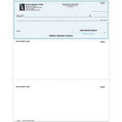 "Custom Laser Multipurpose Direct Deposit Advice Check For Quickbooks®, 8 1/2"" x 11"", 1 Part, Box Of 250"