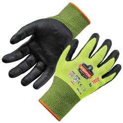 Ergodyne ProFlex 7022 Polyester Hi-Vis Nitrile-Coated Gloves, Large, Lime