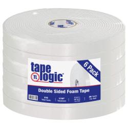 """Tape Logic® Double-Sided Foam Tape, 2"""" x 36 Yd., White, Case Of 6"""
