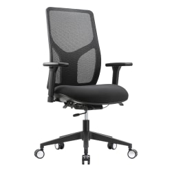 WorkPro® 4000 Series Multifunction Ergonomic Mesh/Fabric High-Back Executive Chair, Black