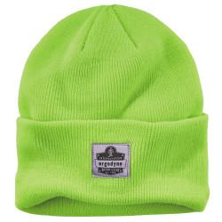 Ergodyne N-Ferno Acrylic Cuffed Rib Knit Beanie Hat, Lime