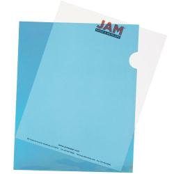 """JAM Paper® Plastic Sleeves, 9"""" x 11 1/2"""", 1"""" Capacity, Blue, Pack Of 12"""